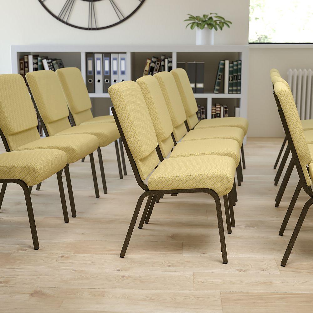 Flash Furniture Beige Fabric Church Chair