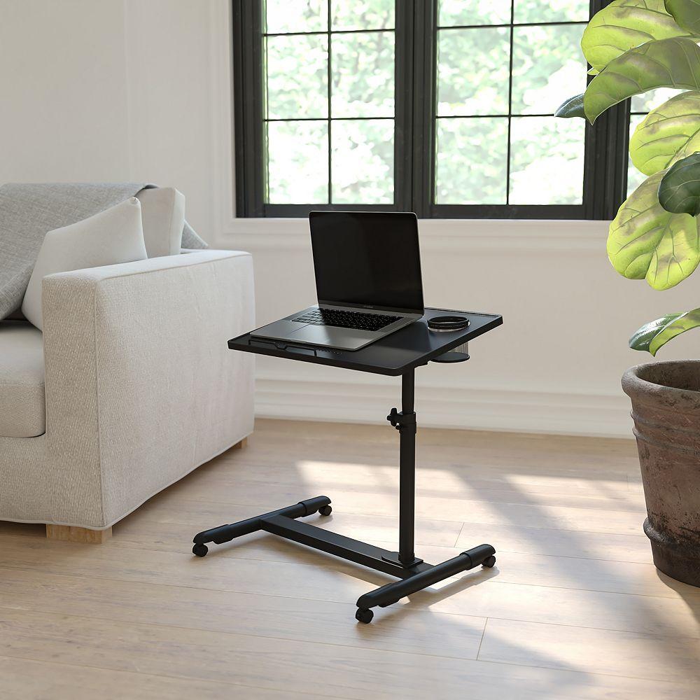 Flash Furniture Black Adjustable Mobile Desk