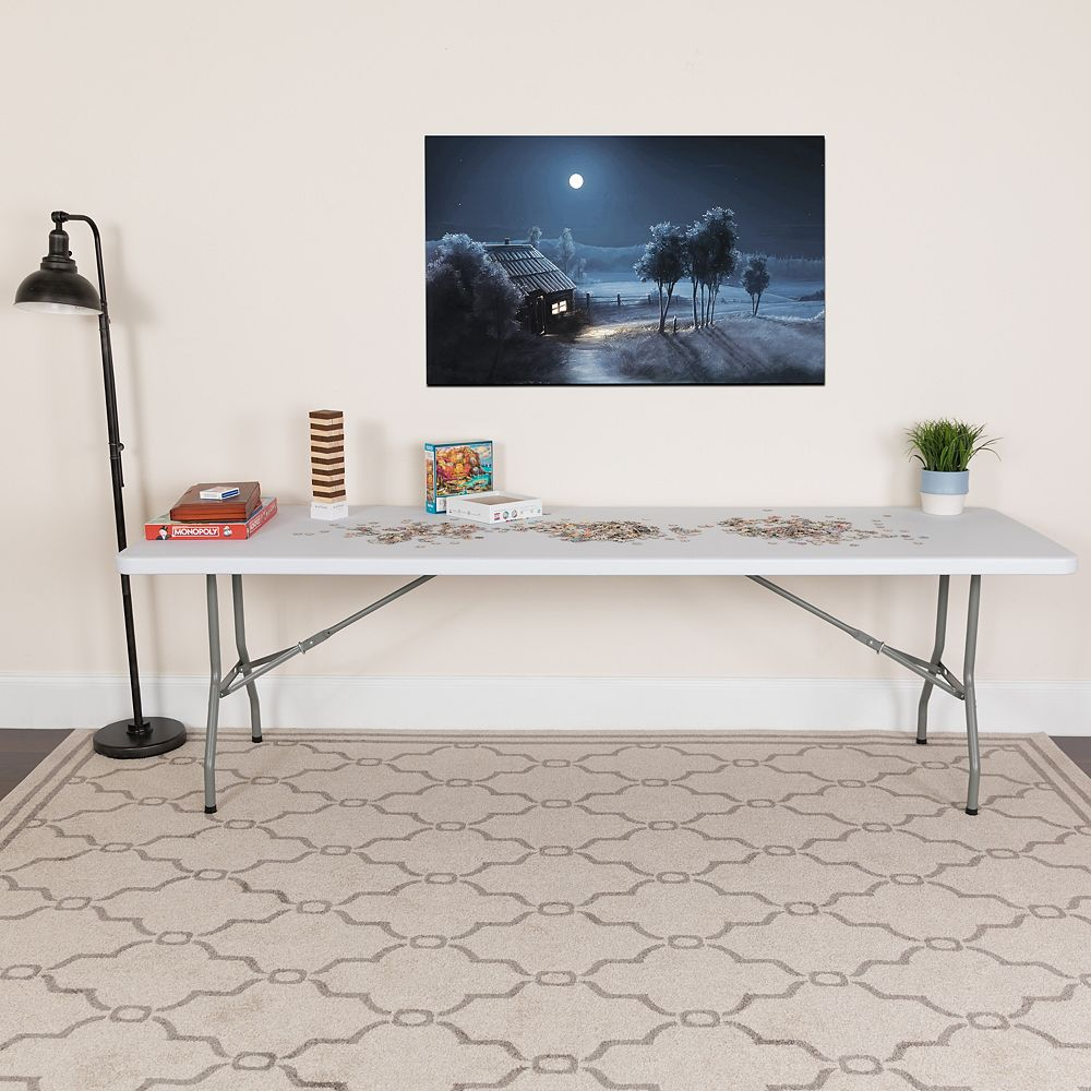 Flash Furniture 30x96 White Plastic Fold Table