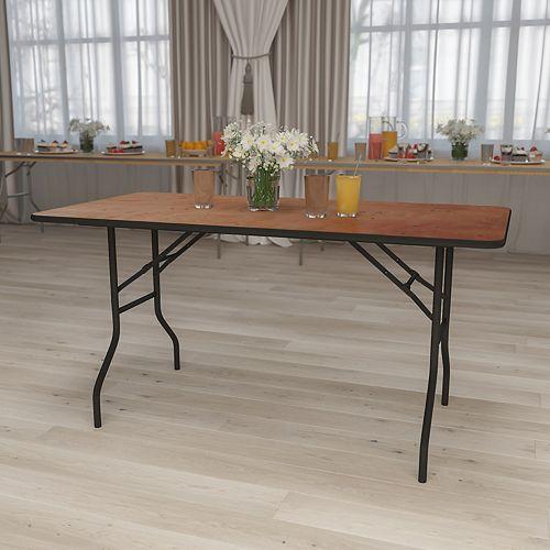 30x60 Wood Fold Table