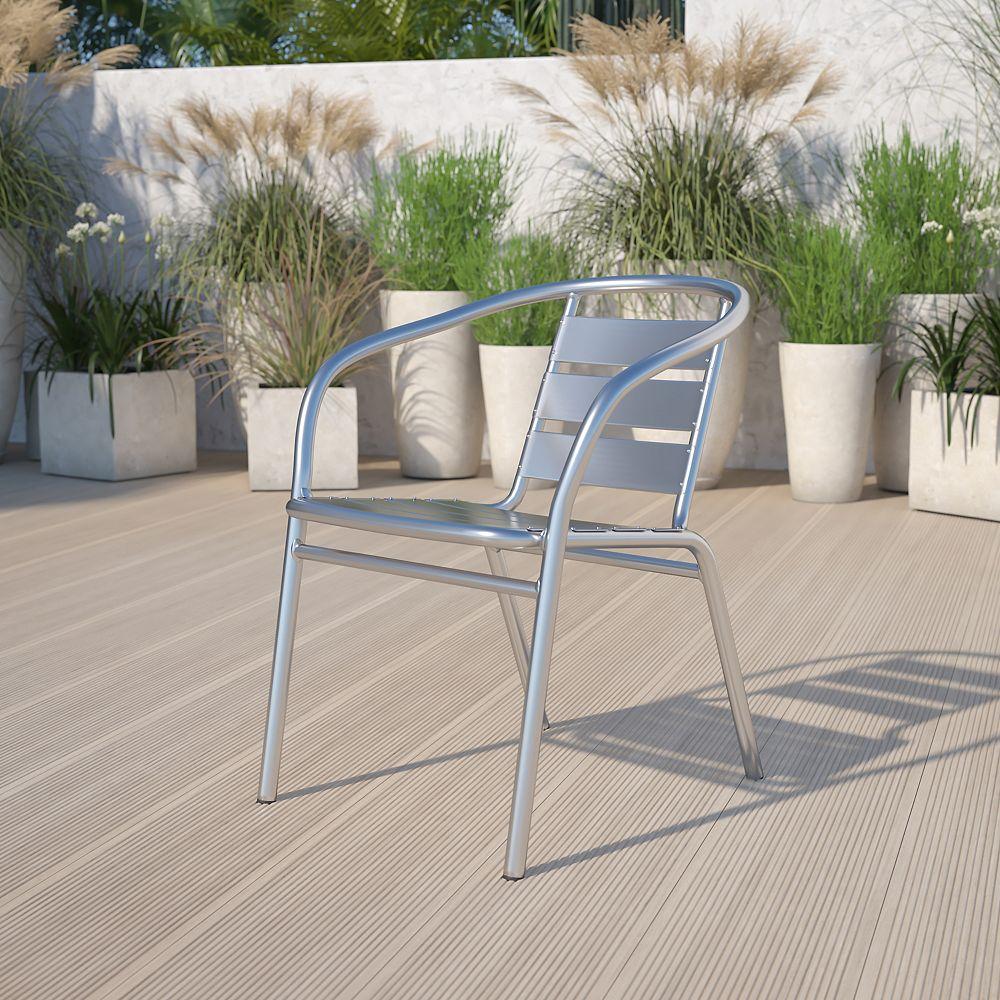 Flash Furniture Aluminum Slat Back Chair