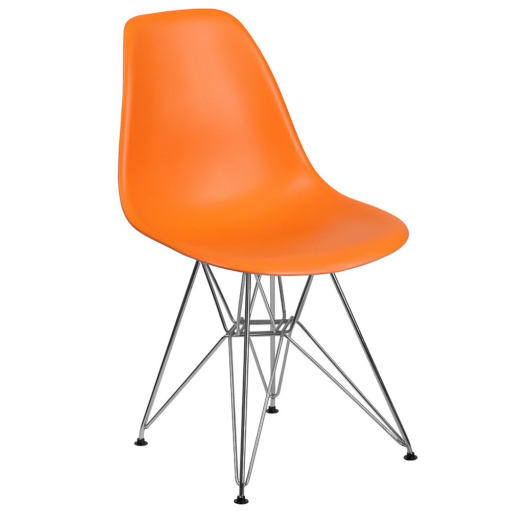 Flash Furniture Orange Plastic/Chrome Chair