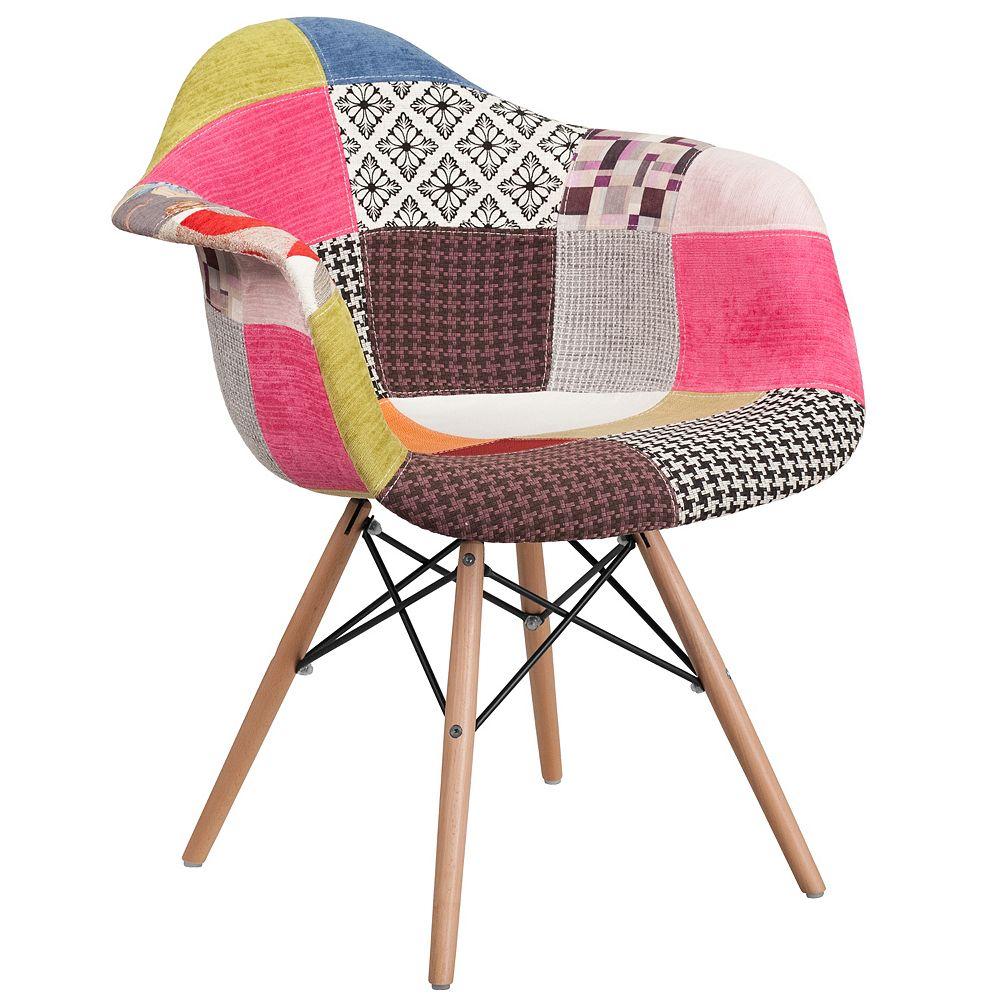 Flash Furniture Milan Fabric/Wood Chair