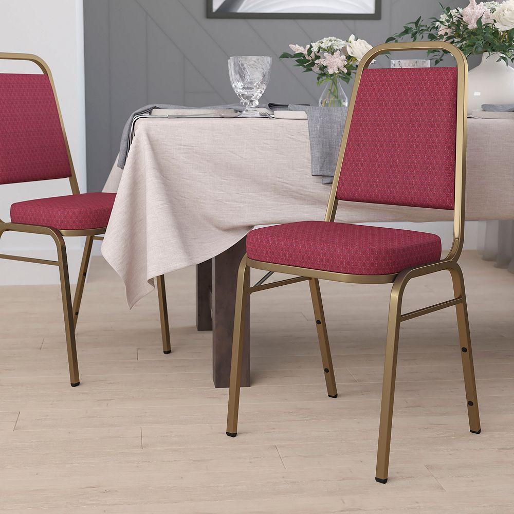 Flash Furniture Burgundy Fabric Banquet Chair