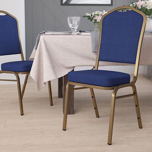 Navy Blue Fabric Banquet Chair
