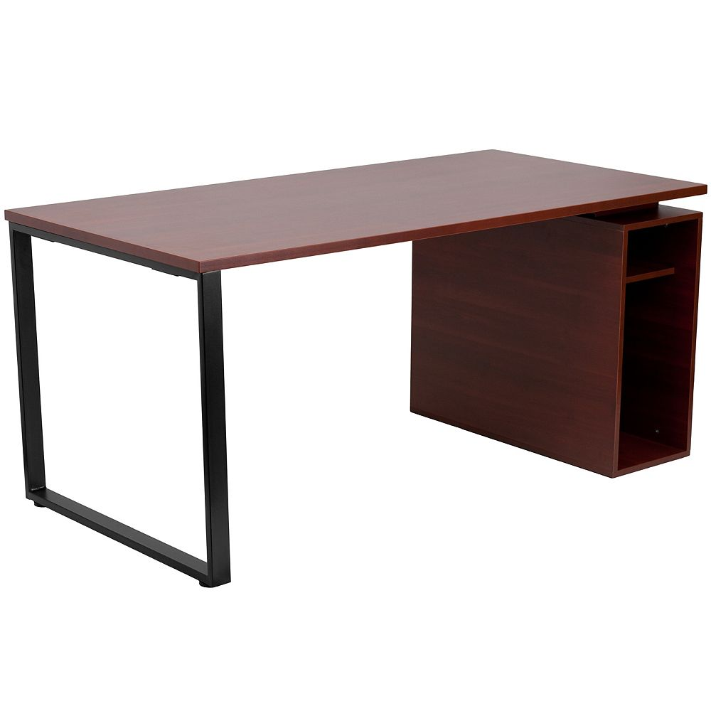 Flash Furniture Mahogany Open Pedestal Desk