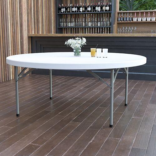 72RD White Plastic Fold Table
