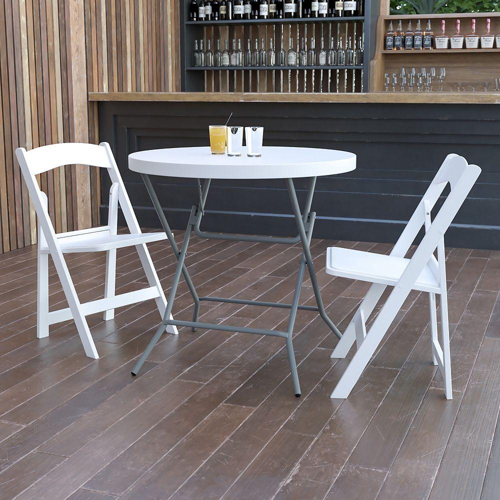 Flash Furniture 32RD White Plastic Fold Table