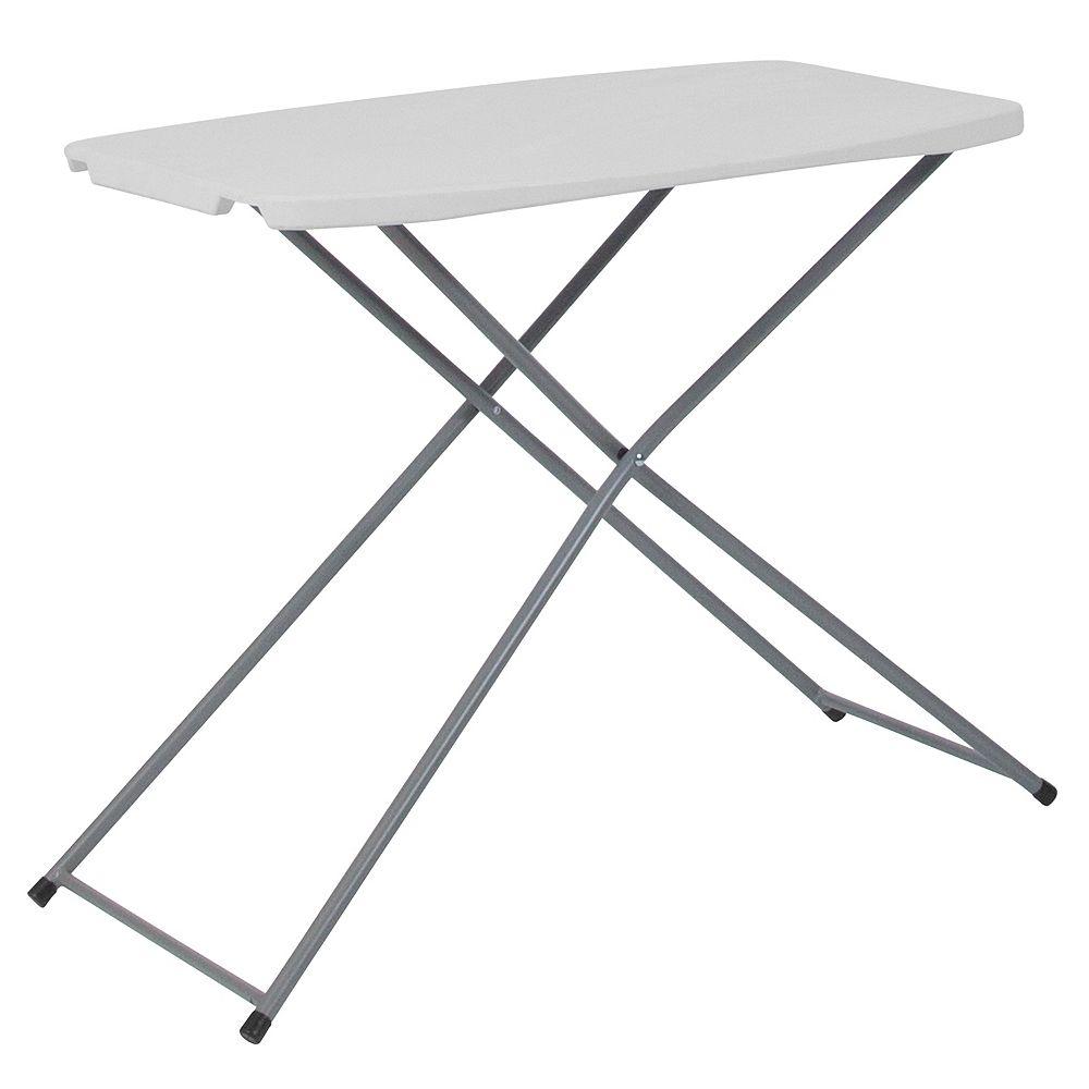 Flash Furniture 18.75x29 White Plastic Table