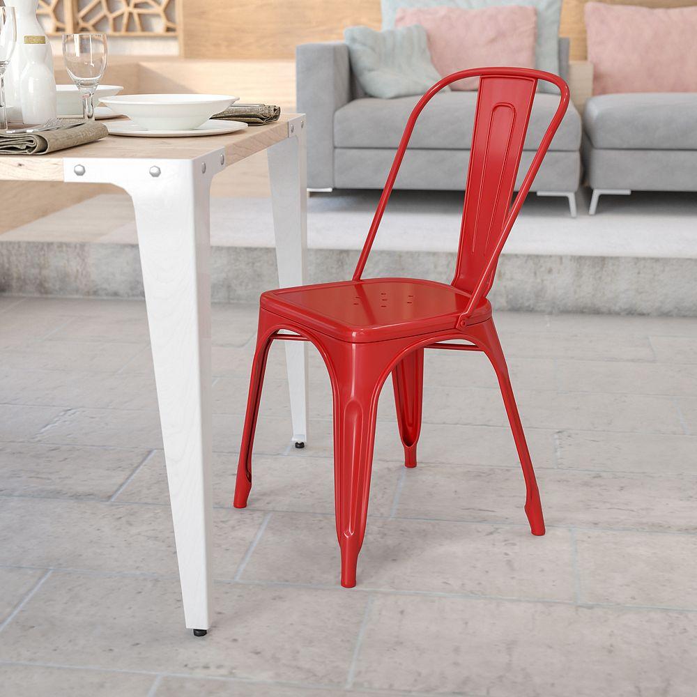 Flash Furniture Red Metal Chair