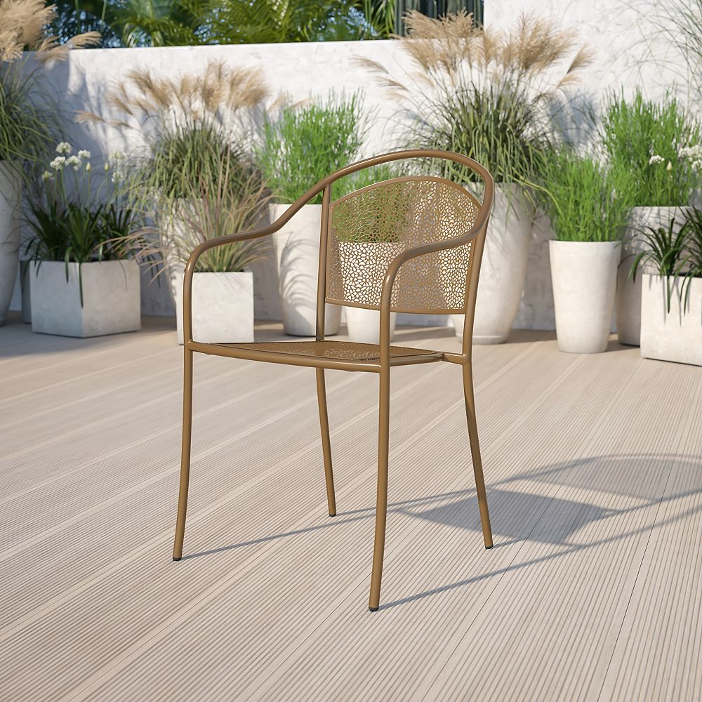 Flash Furniture Gold Round Back Patio Chair