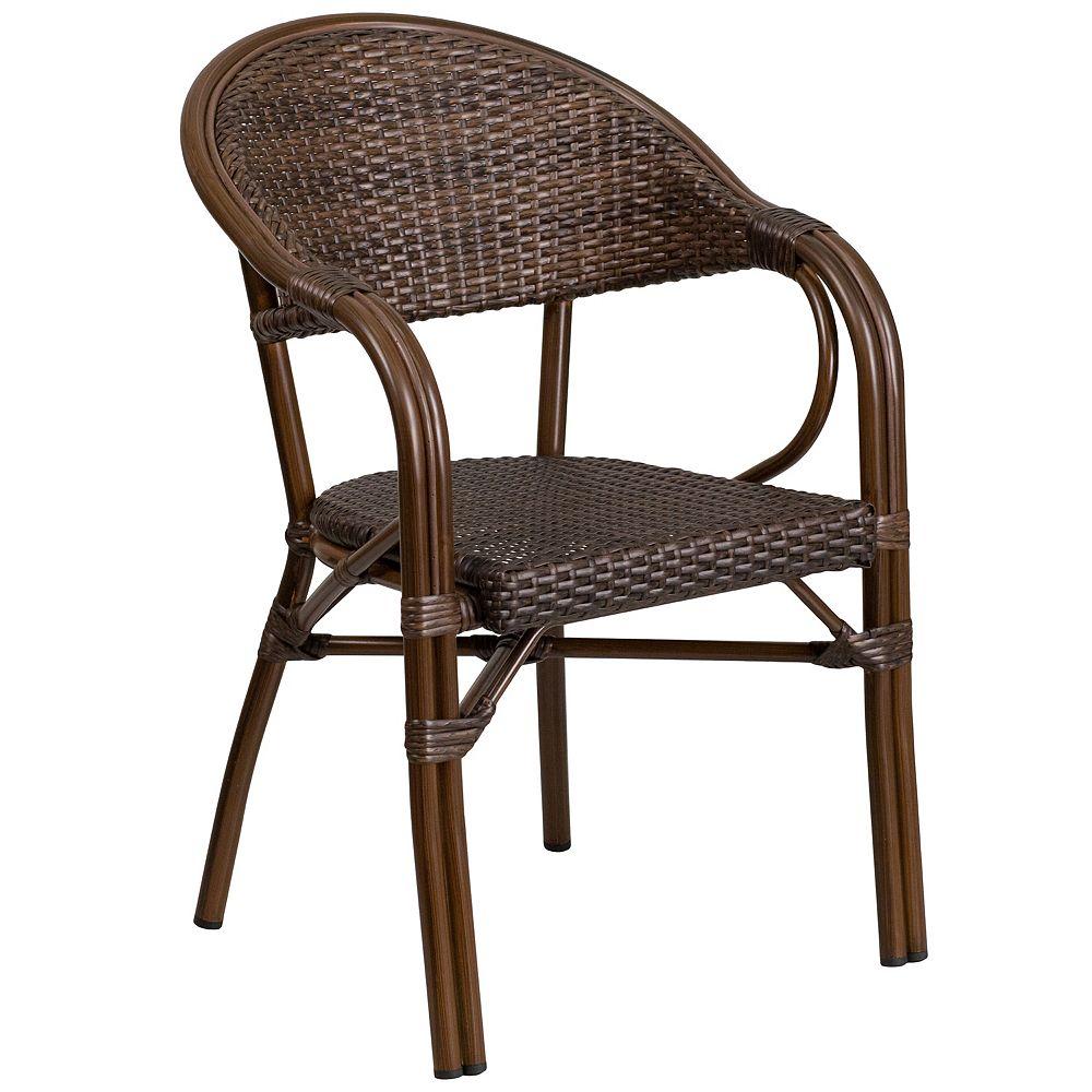 Flash Furniture Rattan Bamboo-Aluminum Chair
