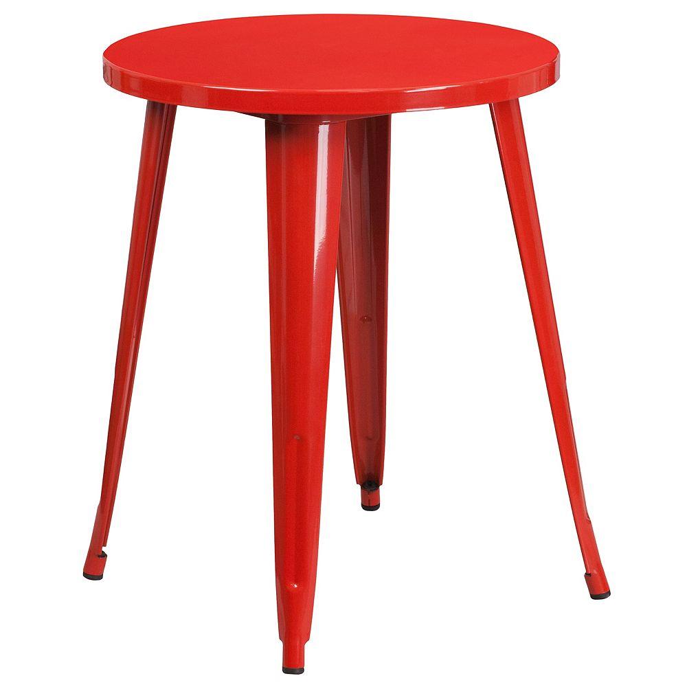 Flash Furniture 24RD Red Metal Table