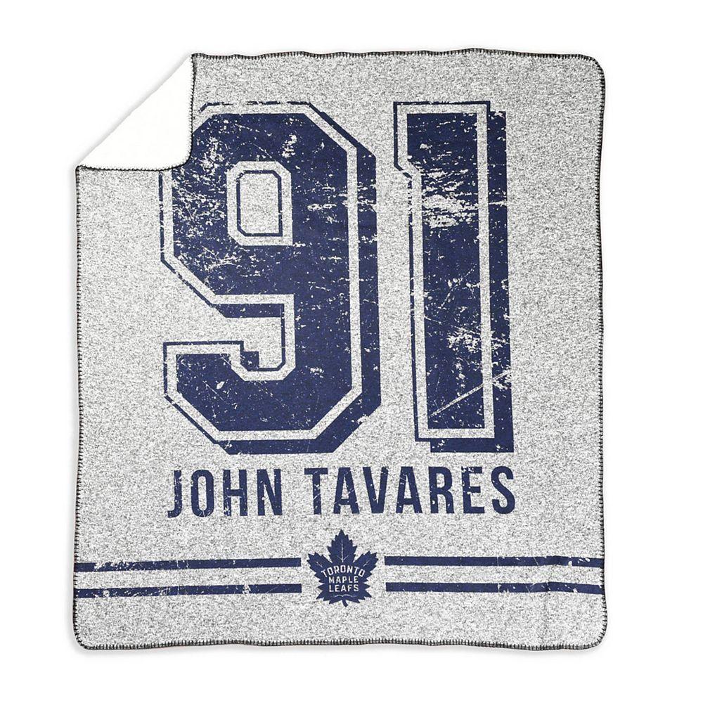NHL John Tavares gris 50 x 60'' AJLNH pull tricot jet couverture