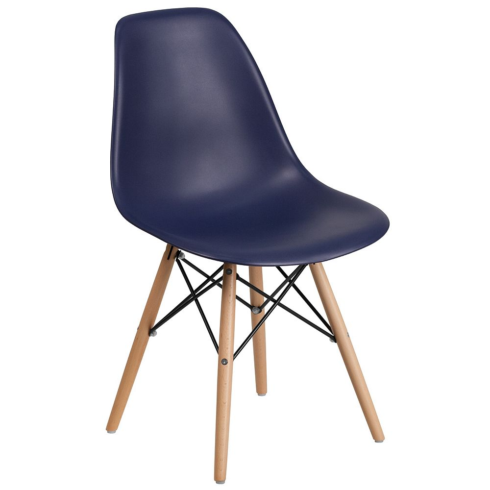 Flash Furniture Navy Plastic/Wood Chair
