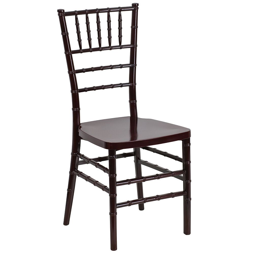 Flash Furniture Mahogany Resin Chiavari Chair
