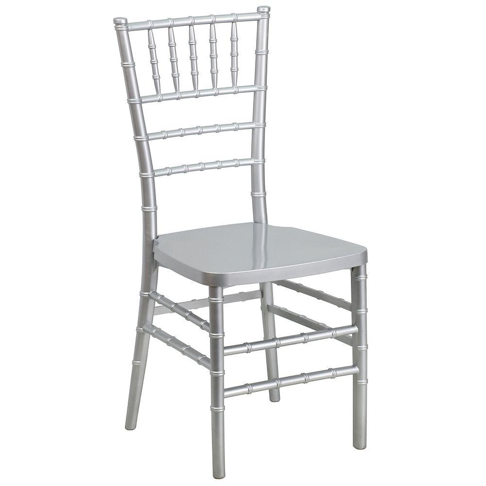 Flash Furniture Silver Resin Chiavari Chair