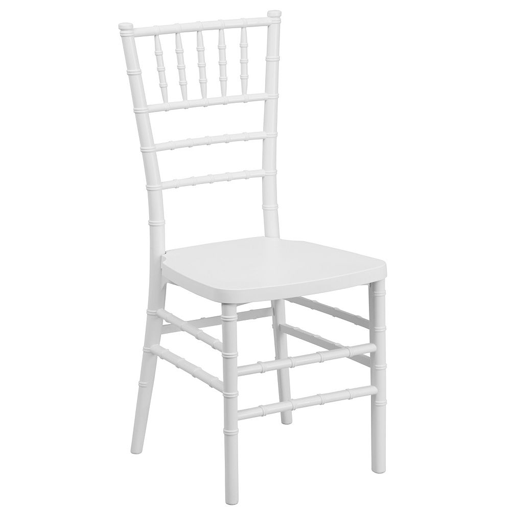 Flash Furniture White Resin Chiavari Chair