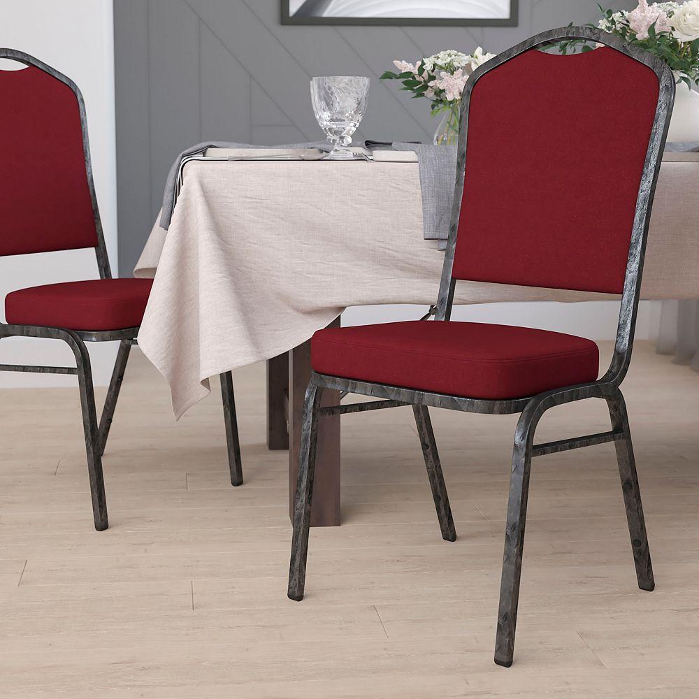 Flash Furniture Chaise de banquet en tissu bourgogne