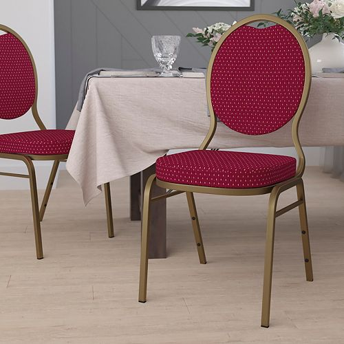 Burgundy Fabric Banquet Chair