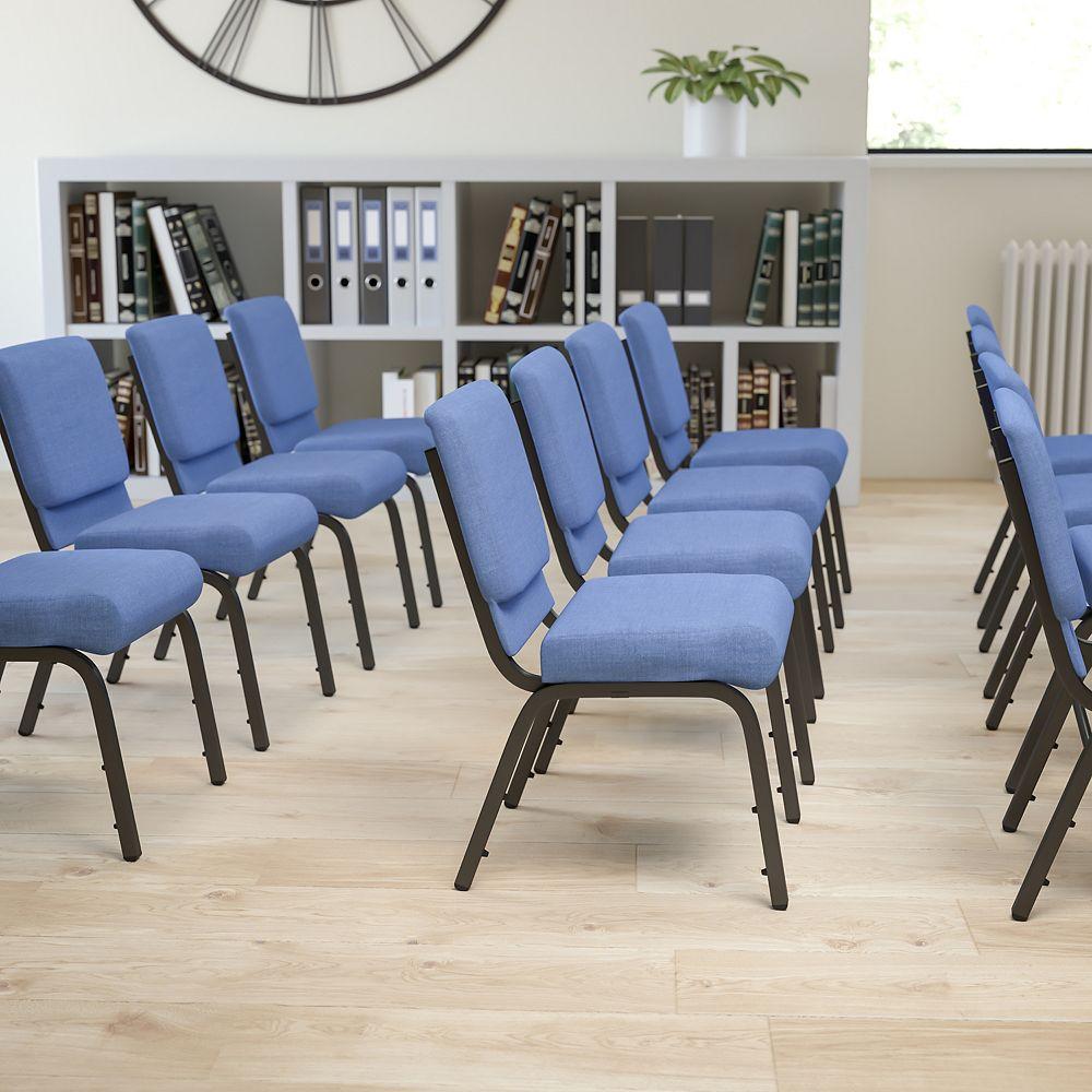 Flash Furniture Blue Fabric Church Chair