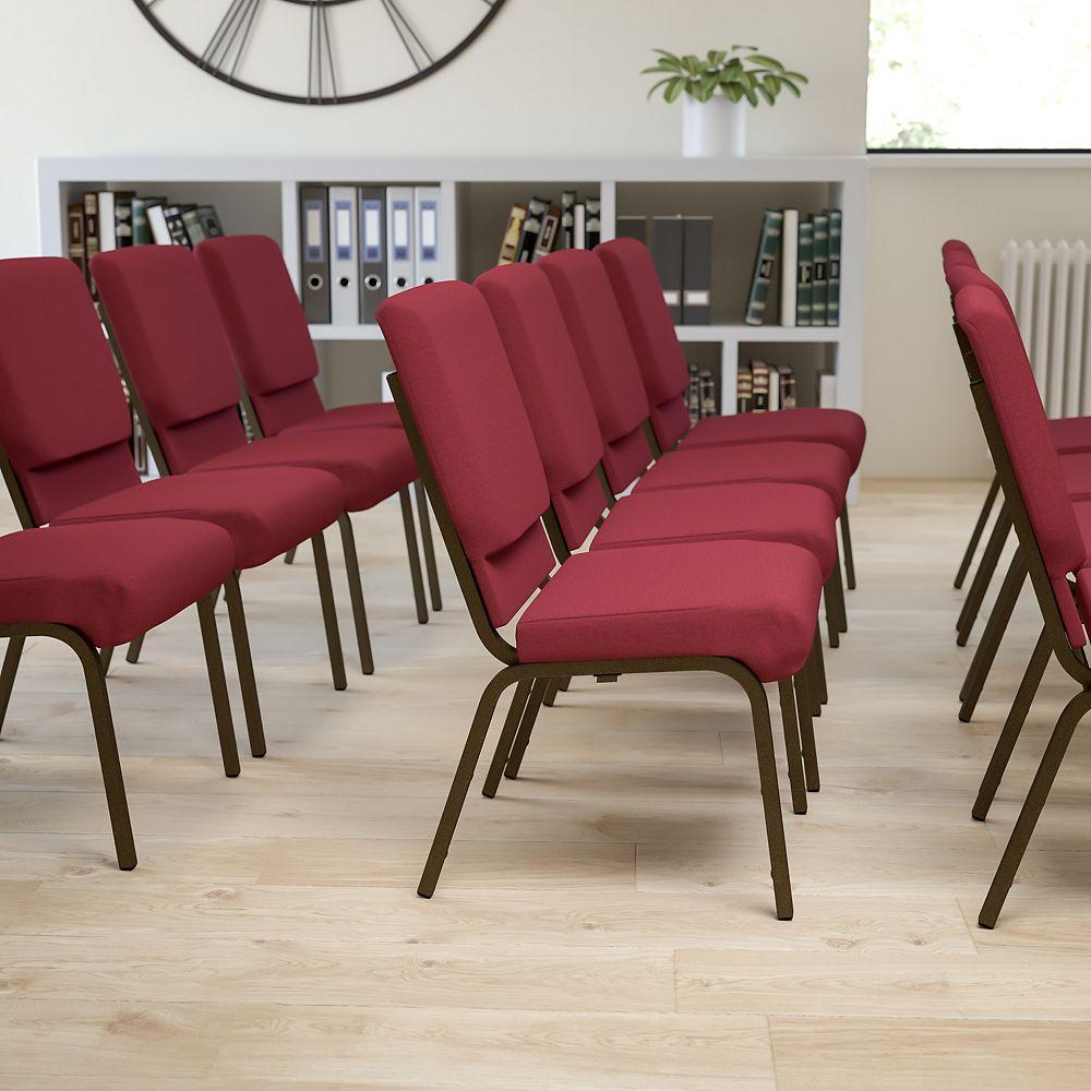 Flash Furniture Burgundy Fabric Church Chair