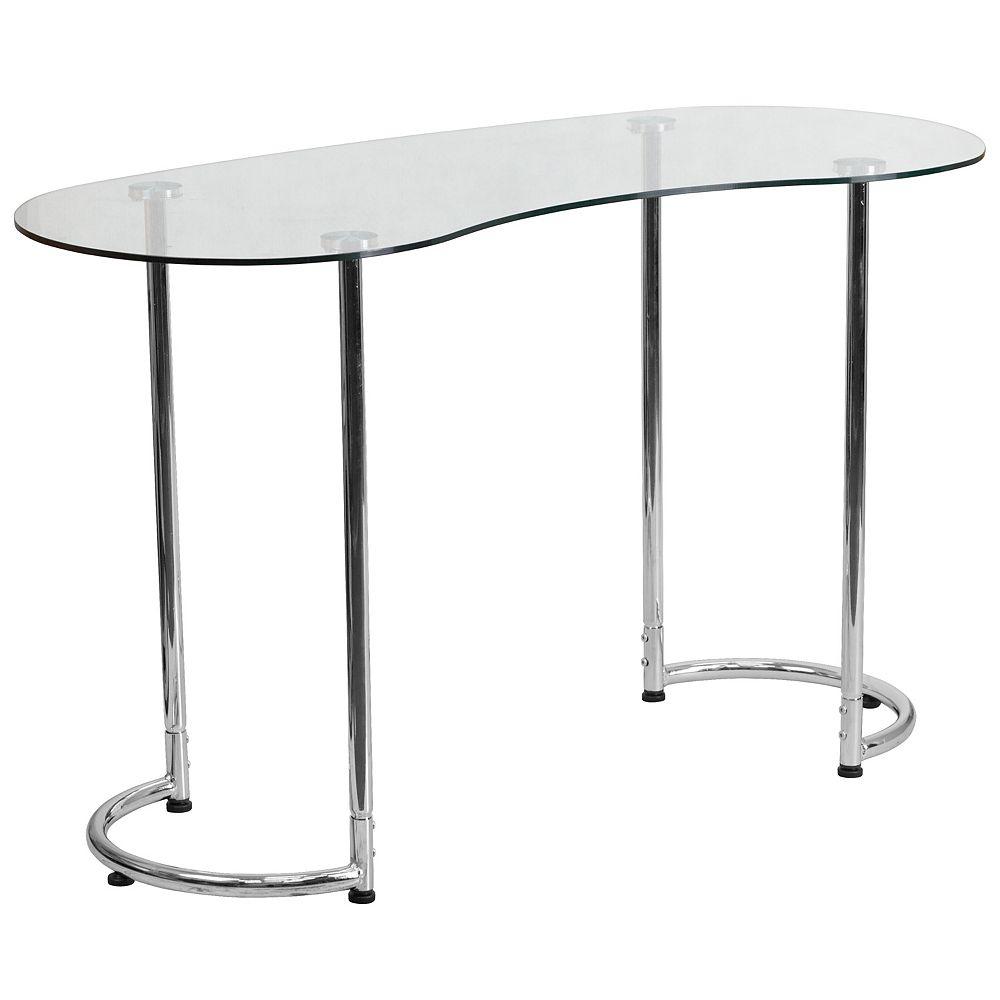 Flash Furniture Glass Curvy Computer Desk