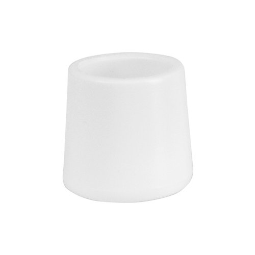 White Replacement Foot Cap for Plastic Folding Chairs
