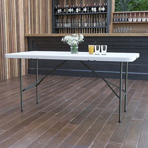 Flash Furniture 30x60 White Bi-Fold Table