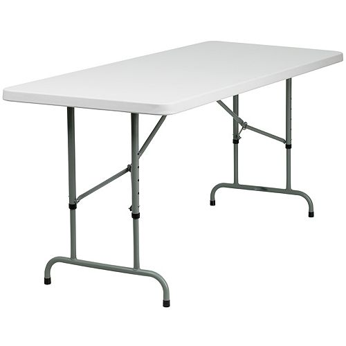 30x72 White Plastic Fold Table