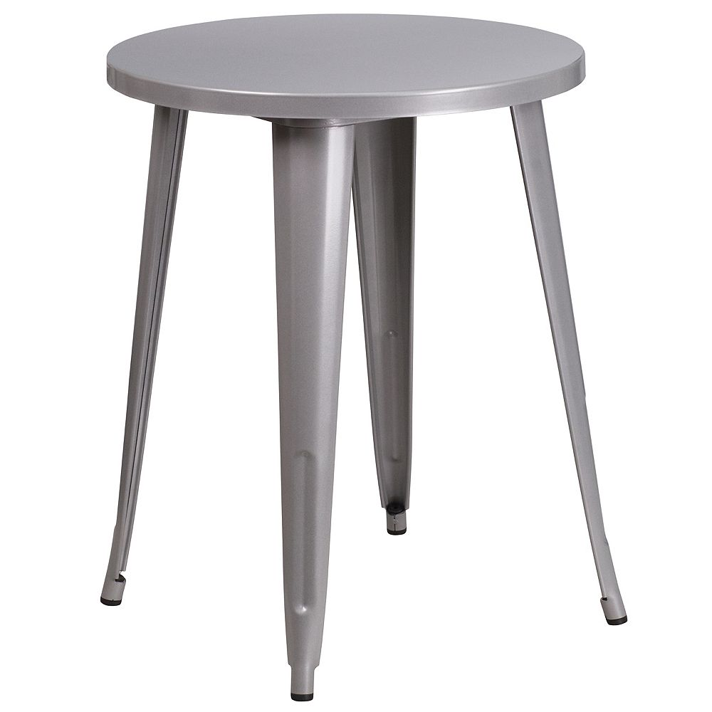 Flash Furniture 24RD Silver Metal Table