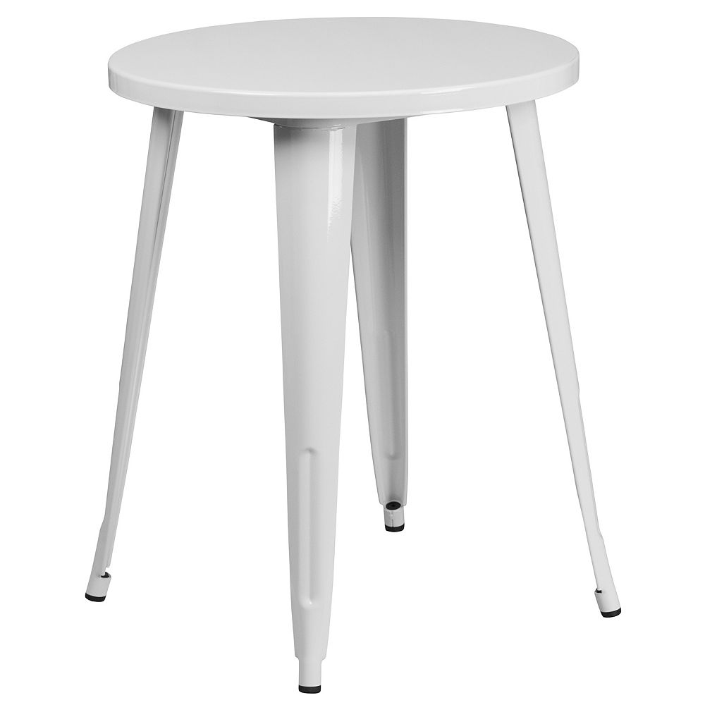 Flash Furniture 24RD White Metal Table