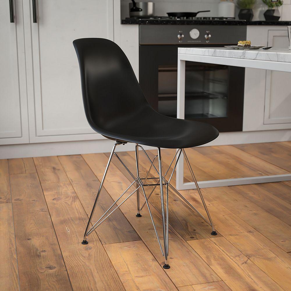 Flash Furniture Black Plastic/Chrome Chair