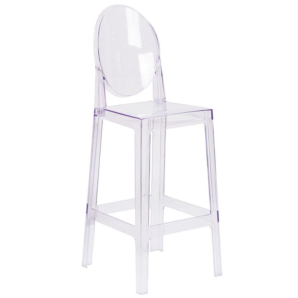 Flash Furniture Oval Back Ghost Barstool