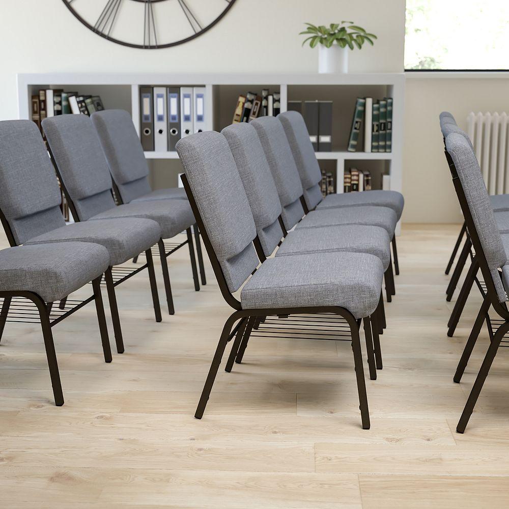 Flash Furniture Gray Fabric Church Chair