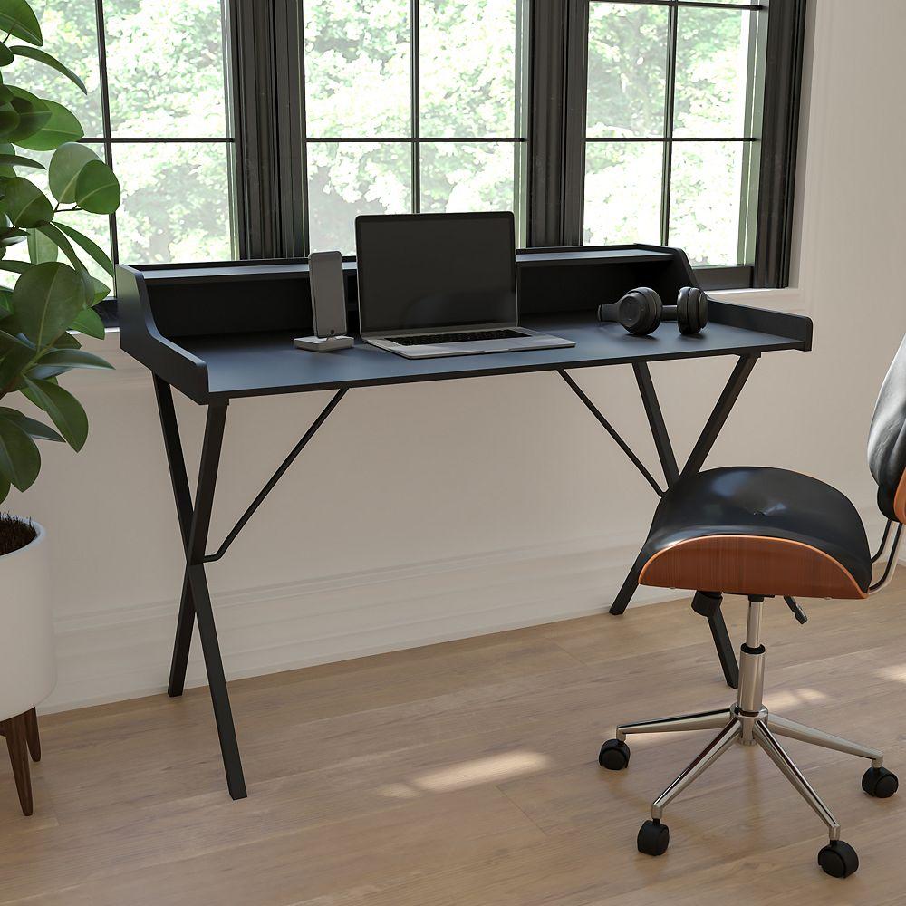 Flash Furniture Black Top Shelf Computer Desk