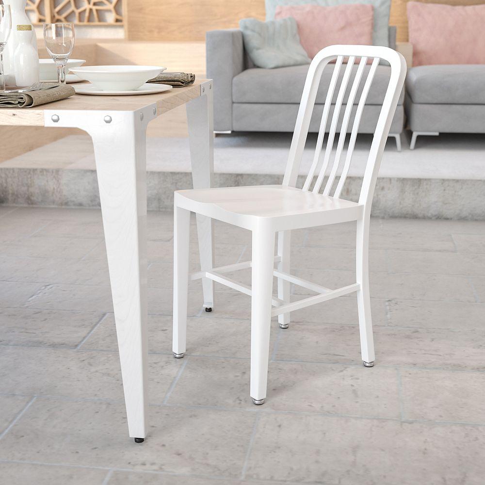 Flash Furniture White Indoor-Outdoor Chair