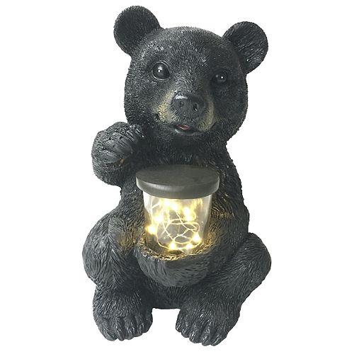 Angelo Décor Bear with Solar Light Statue