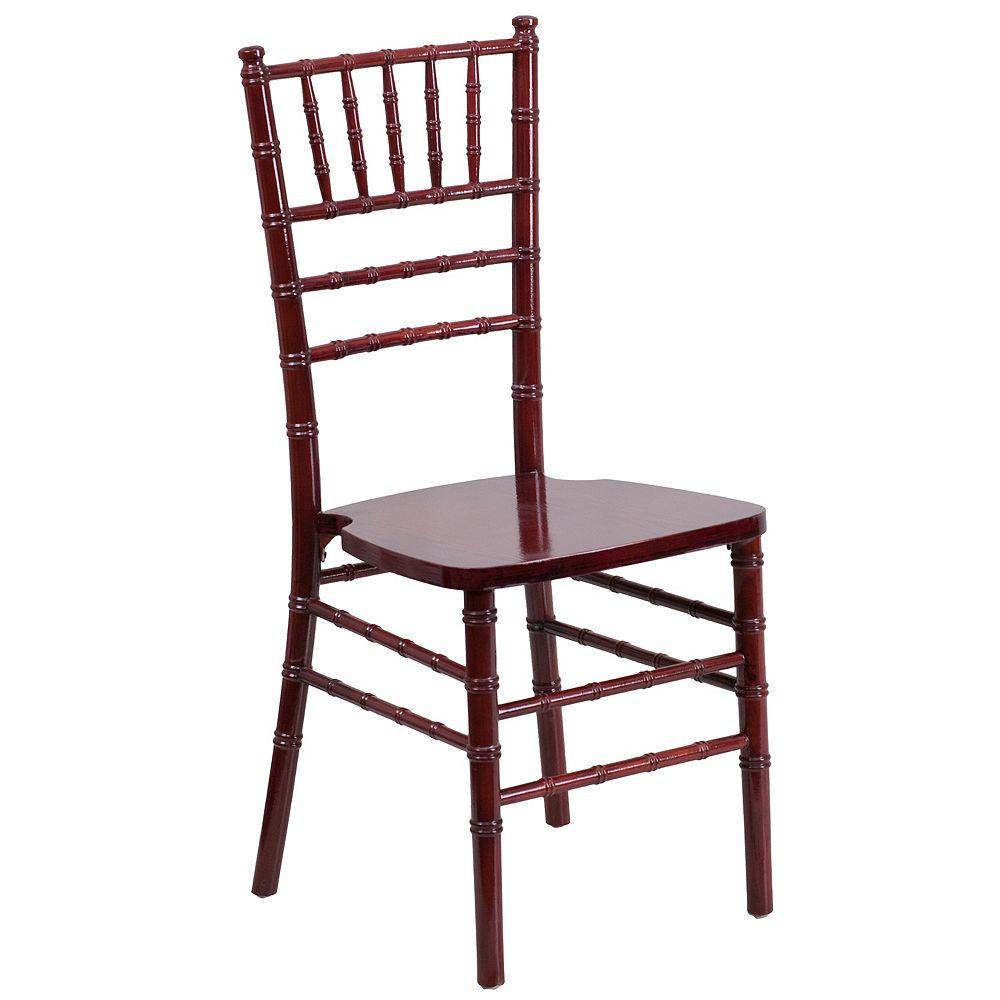 Flash Furniture Chaise Chiavari de la série HERCULES en bois d'acajou