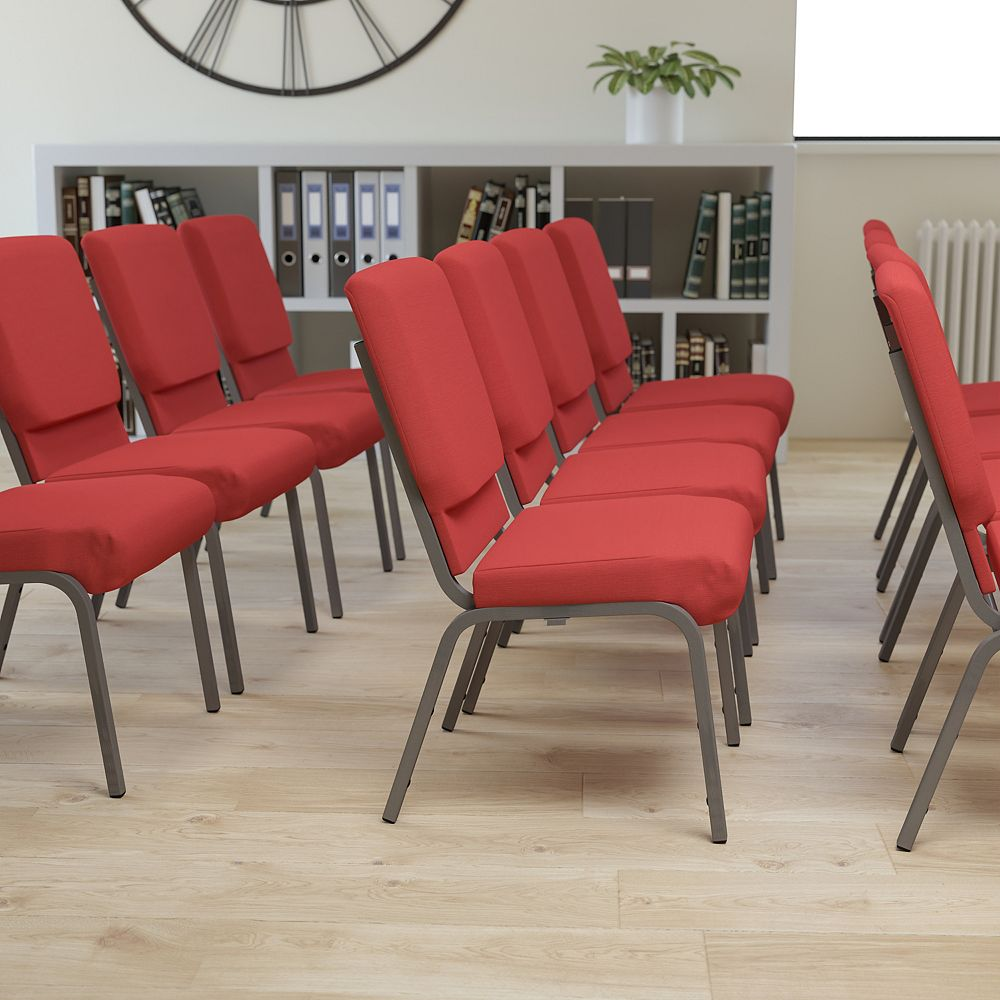Flash Furniture Red Fabric Church Chair
