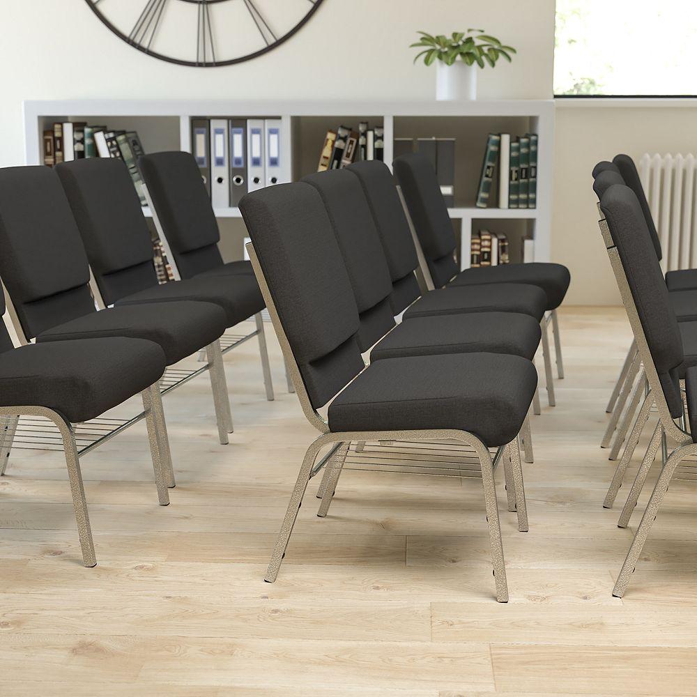 Flash Furniture Black Fabric Church Chair