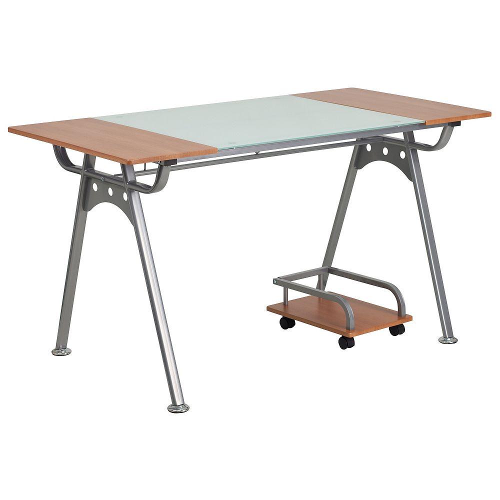 Flash Furniture Glass/Cherry Laminate Desk