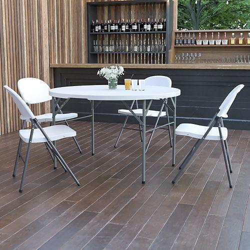 48RD White Bi-Fold Table