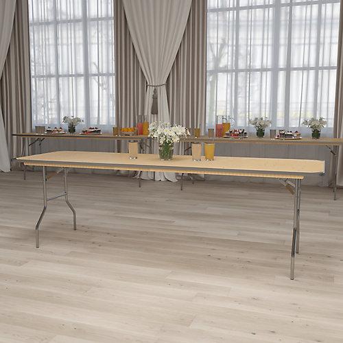 30x96 Wood Fold Table-Met Edge