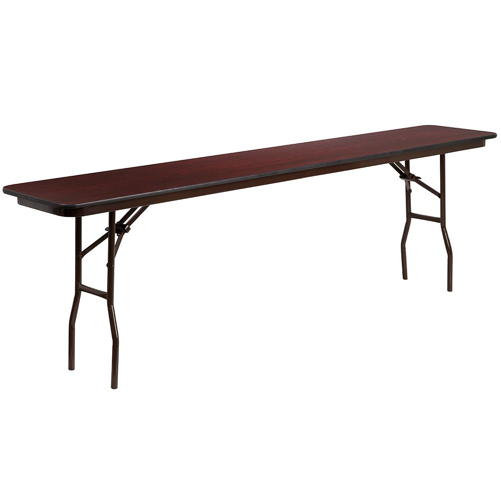 Flash Furniture 18x96 Mahogany Training Table