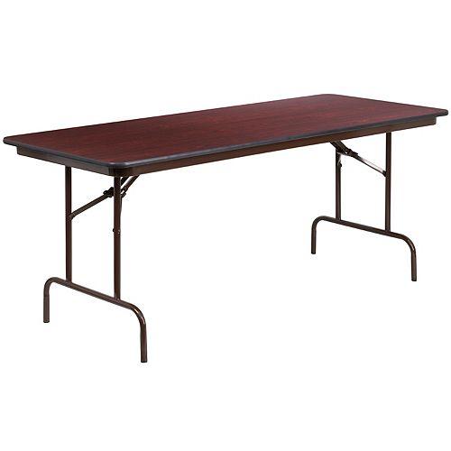 30x72 Mahogany Wood Fold Table