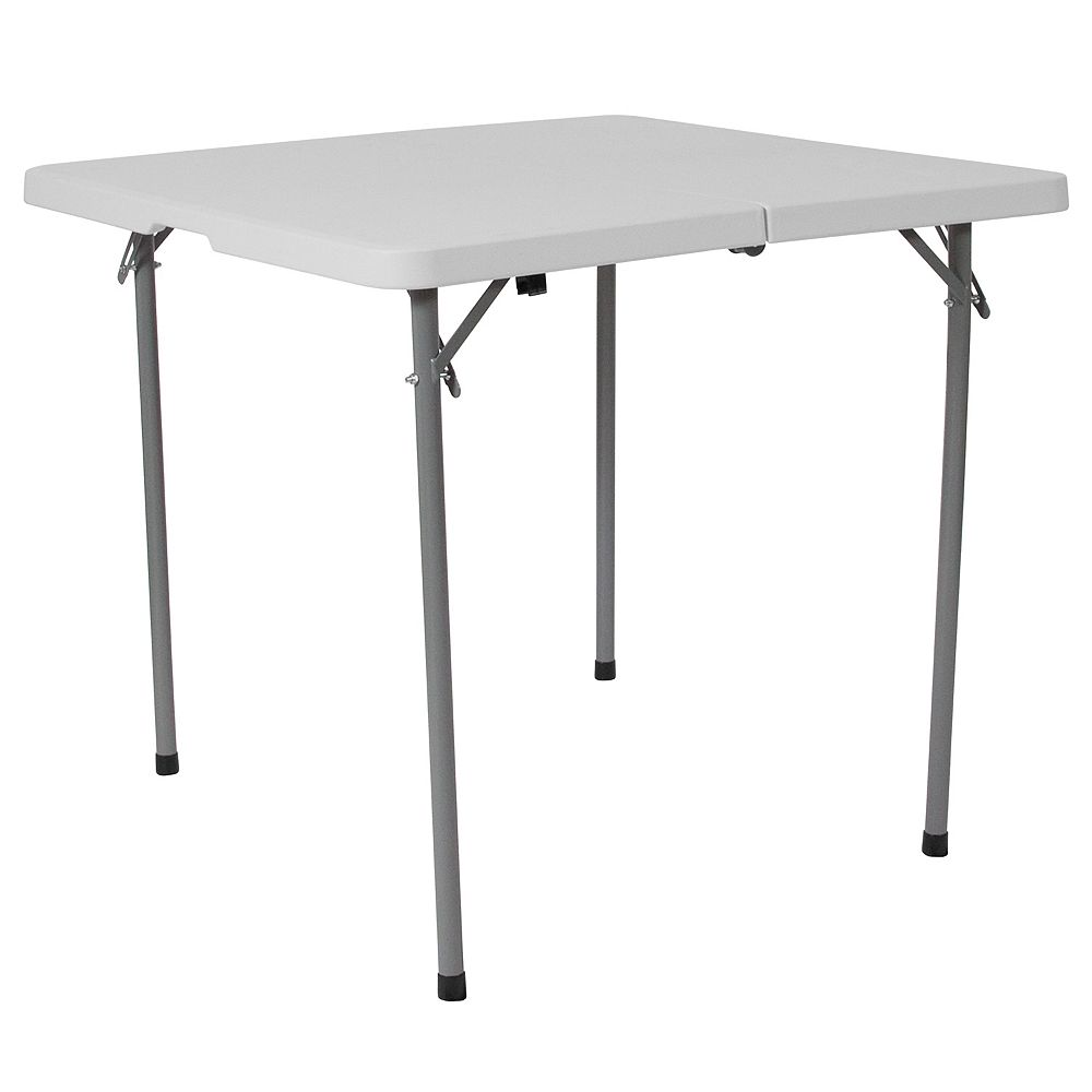 Flash Furniture 34SQ White Plastic Fold Table