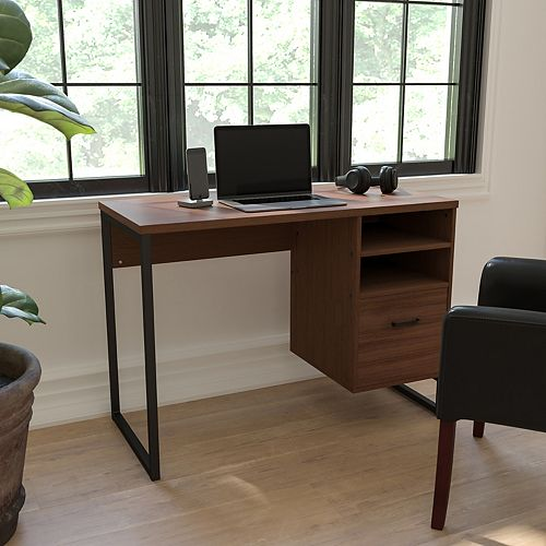 Rustic Coffee Computer Desk