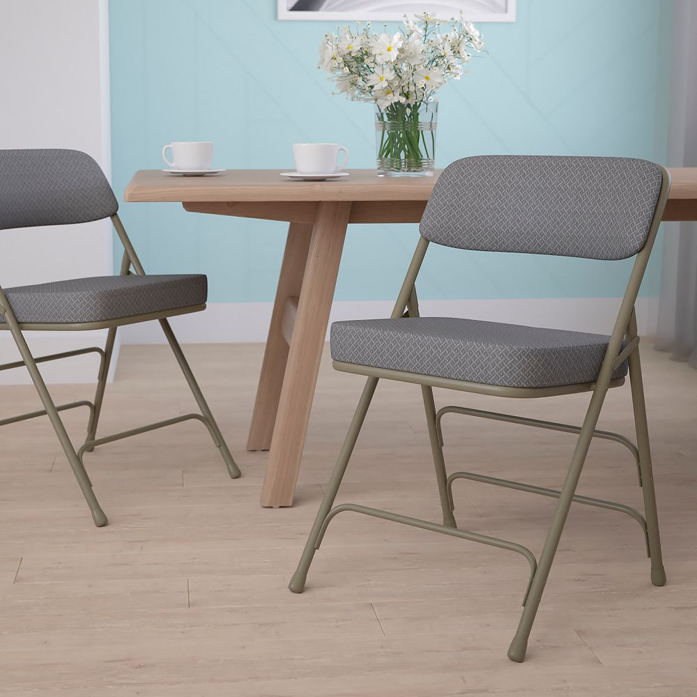 Flash Furniture Gray Fabric Folding Chair
