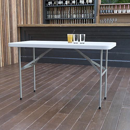 24x48 White Plastic Fold Table